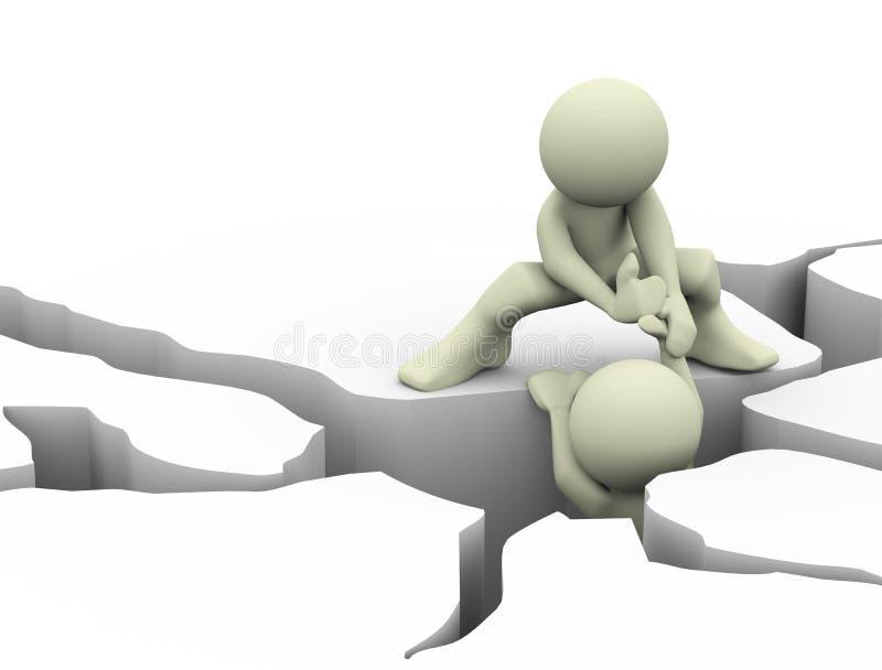 Download Rachadura Da Terra 3d E Homem De Ajuda Ilustração Stock - Ilustração de helping, colapso: 29846220