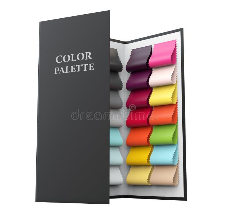 ilustração 3d de amostras da paleta de cores no fundo branco ilustração do vetor