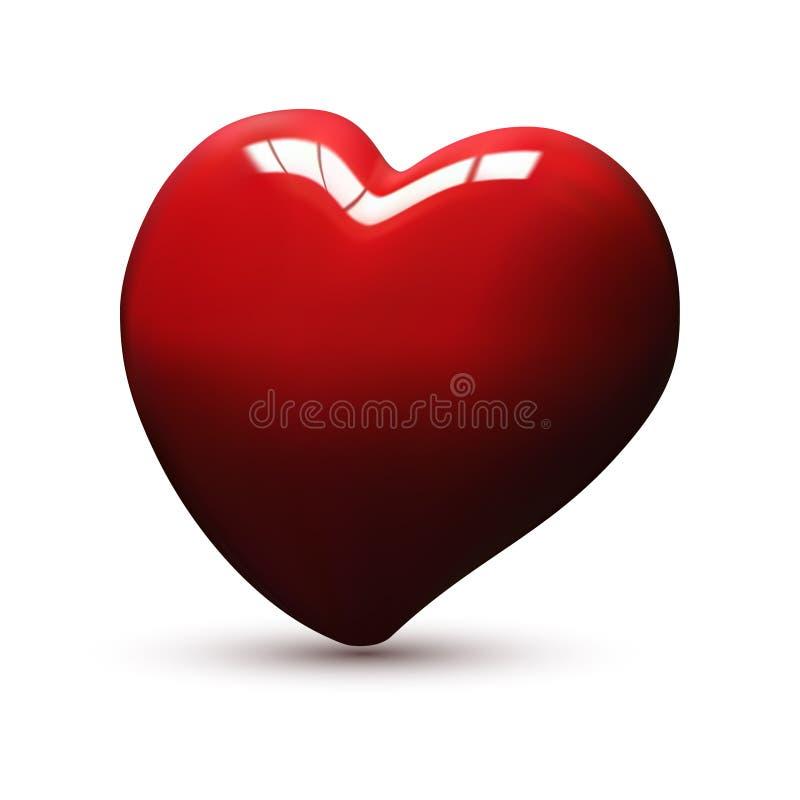 ilustração 3d de um coração Ilustração do vetor imagem de stock