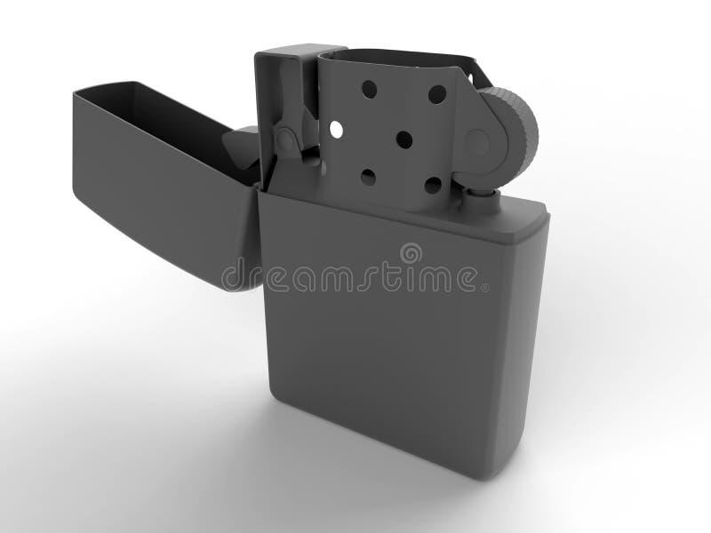 ilustração 3D de um isqueiro ilustração do vetor