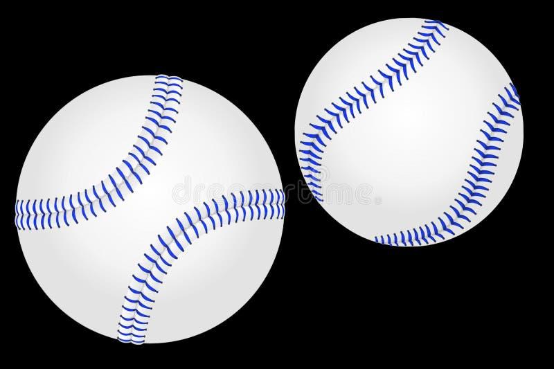 ilustração 3d do basebol isolada no fundo escuro imagens de stock royalty free