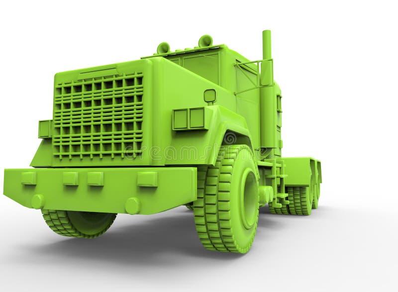 ilustração 3d do caminhão genérico ilustração royalty free