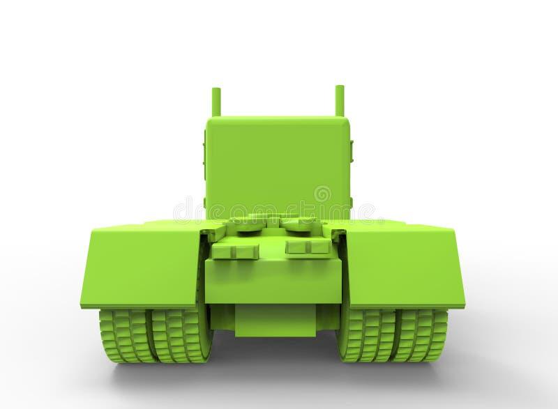 ilustração 3d do caminhão genérico ilustração do vetor