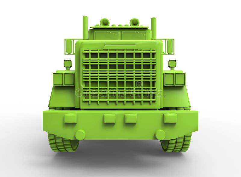 ilustração 3d do caminhão genérico ilustração stock