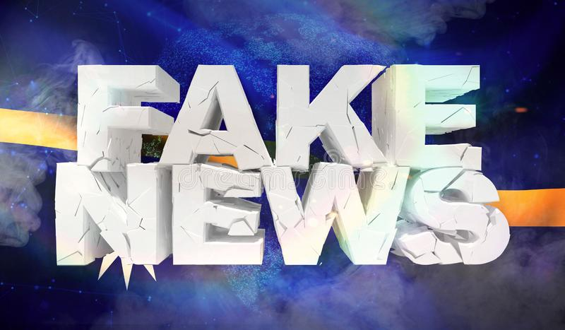 ilustração 3D do conceito falsificado da notícia com a bandeira do fundo de Nauru ilustração stock