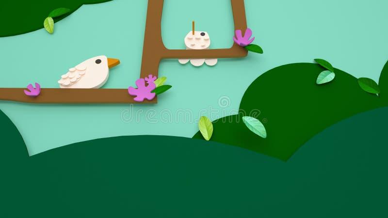 ilustração 3D do dia ou do easter de mola com cores vívidas para o po ilustração royalty free