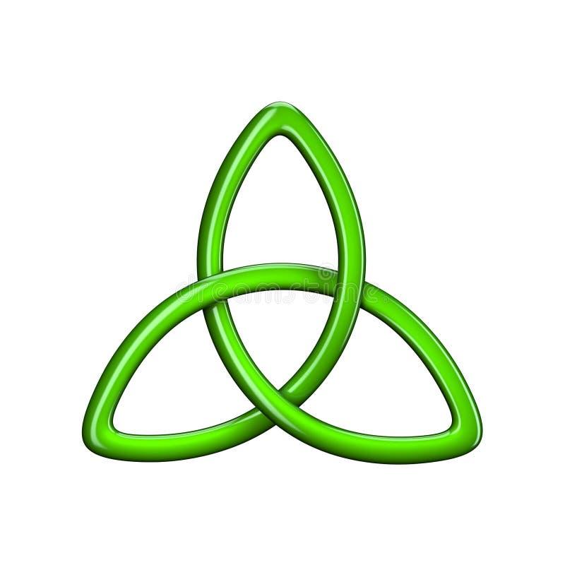 ilustração 3d do nó ou do Triquetra da trindade ilustração do vetor