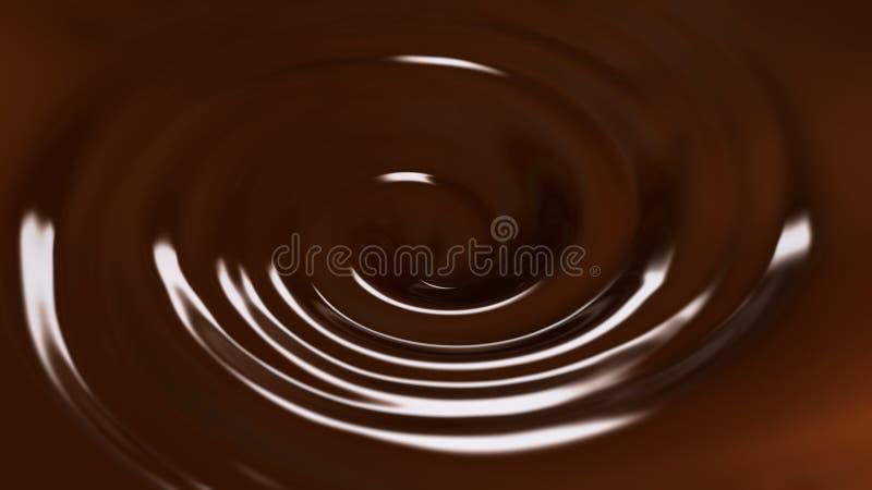 ilustração 3d do redemoinho do chocolate ilustração do vetor