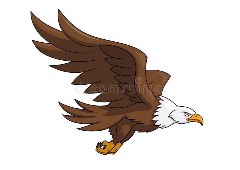 Ilustração 3 da águia do voo ilustração stock