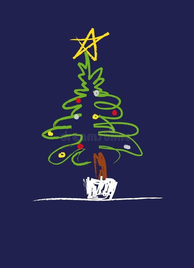 Ilustração da árvore de Natal ilustração royalty free