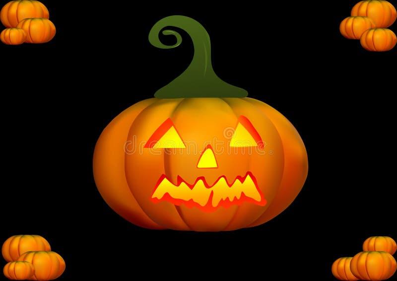 Ilustração da abóbora de Halloween imagens de stock