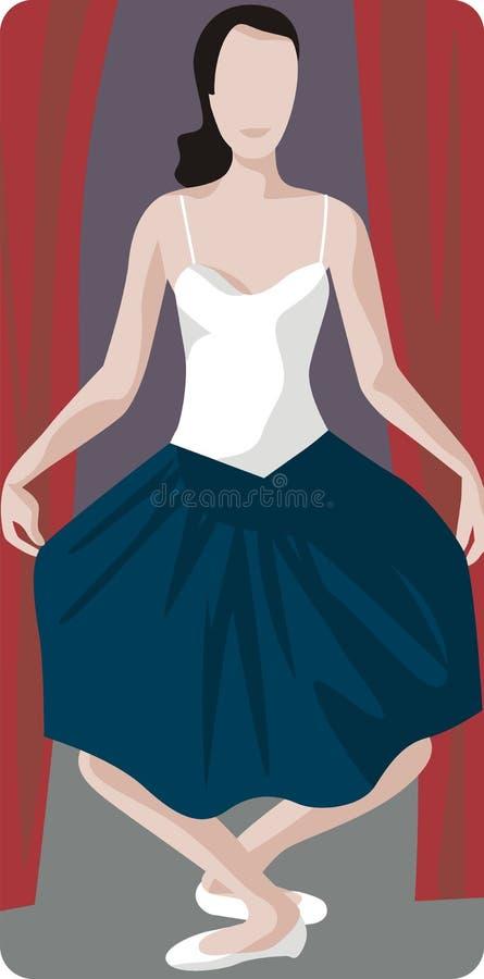 Ilustração da actriz ilustração royalty free