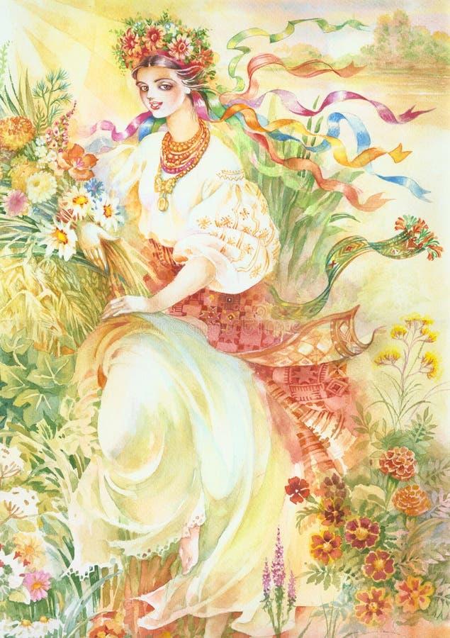 Ilustração da aguarela ilustração royalty free