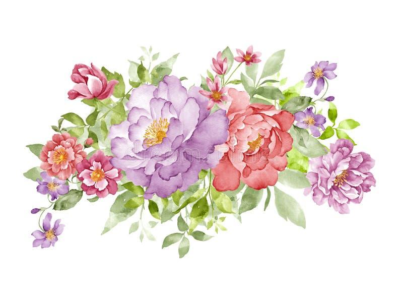 Ilustração da aguarela ilustração stock