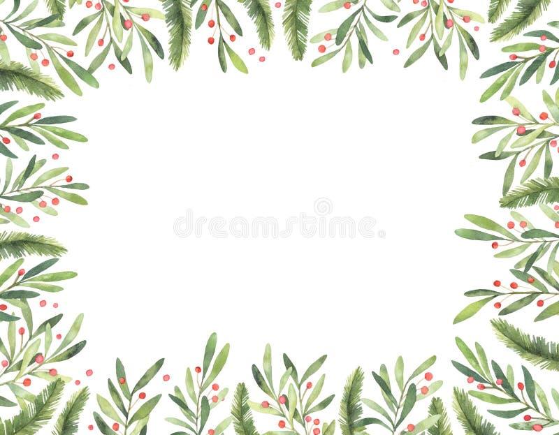 Ilustração da aguarela Quadro pre feito do Natal Aperfeiçoe para i ilustração do vetor