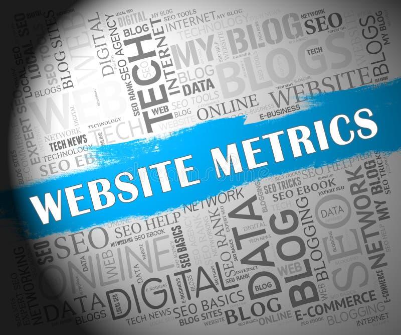 Ilustração da analítica do local do negócio do medidor do Web site 2d ilustração stock