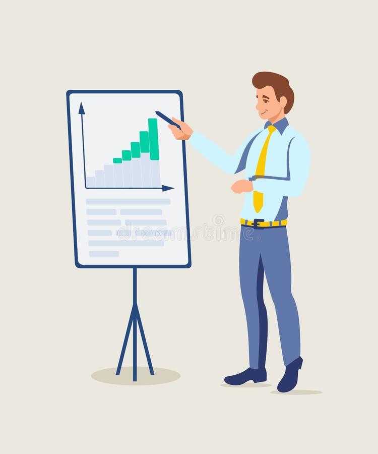 Ilustração da apresentação do treinador do negócio ilustração stock