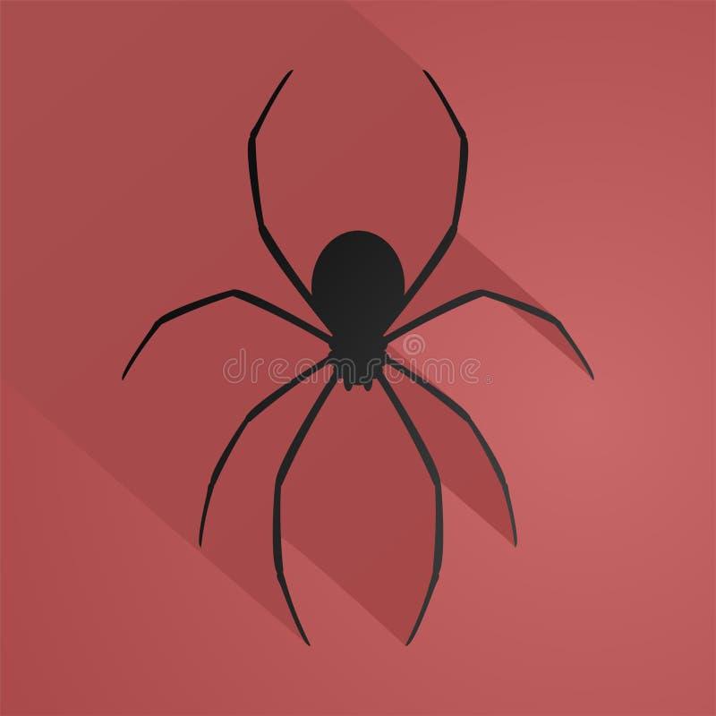 Ilustração da aranha do medo ilustração stock