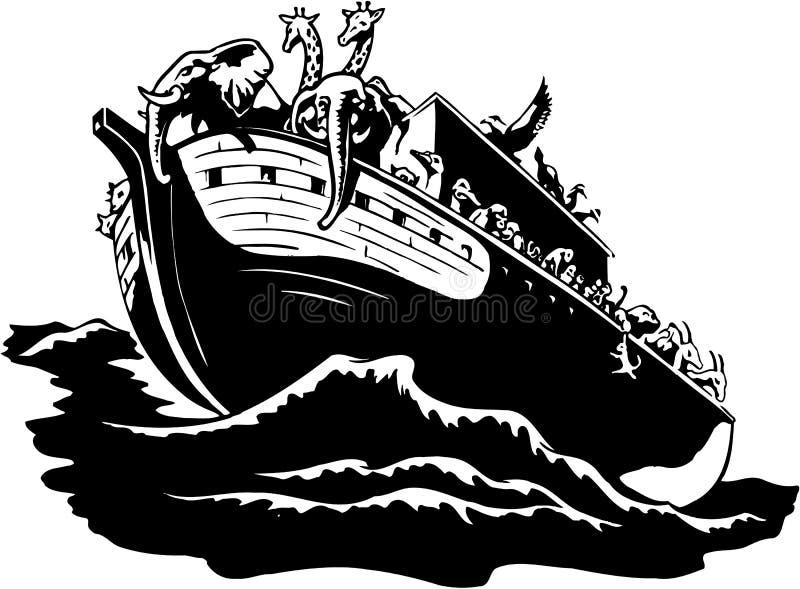 Ilustração da arca de Noah ilustração stock