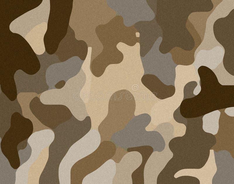 Ilustração da areia da camuflagem do deserto ilustração royalty free