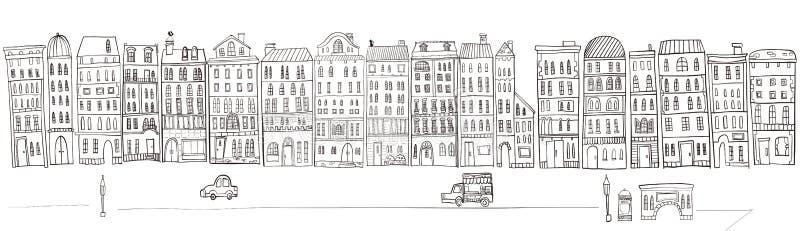 Ilustração da arquitetura da cidade fotografia de stock
