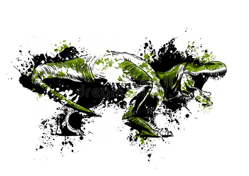 Ilustração da arte do vetor do rex do tiranossauro do dinosaurus ilustração do vetor