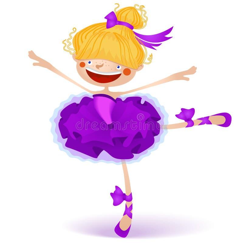 Ilustração da bailarina feericamente pequena feliz ilustração stock