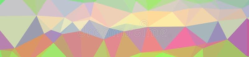 Ilustração da baixa laranja poli do sumário, fundo verde, azul, amarelo, vermelho da bandeira ilustração stock