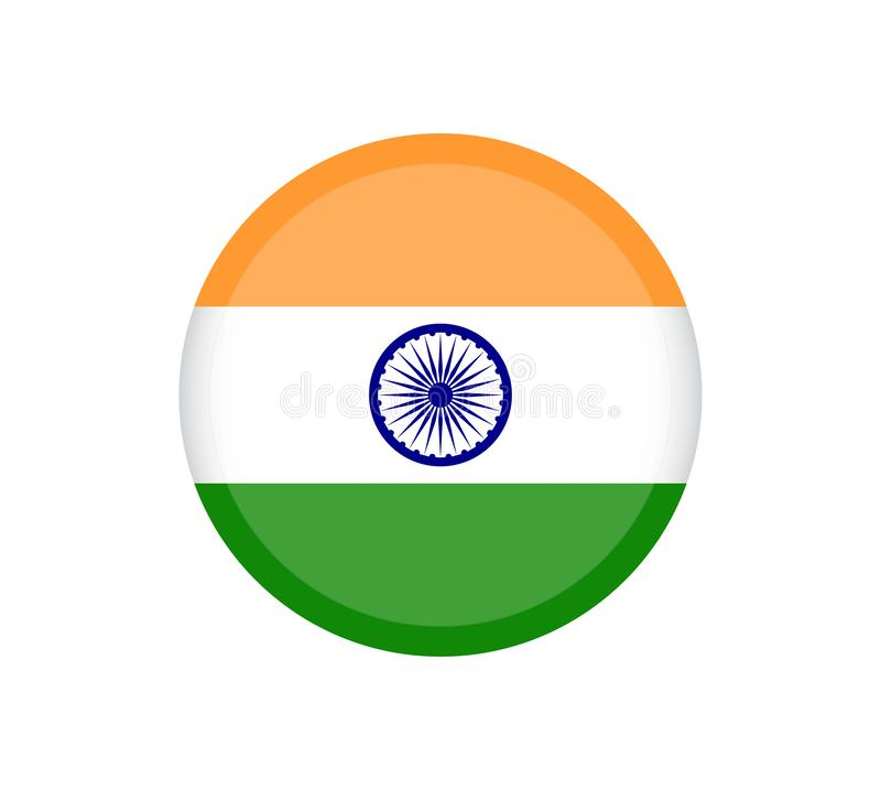 A ilustração da bandeira da Índia deu forma como um coração A bandeira da Índia, cores oficiais e proporciona corretamente Bandei ilustração royalty free