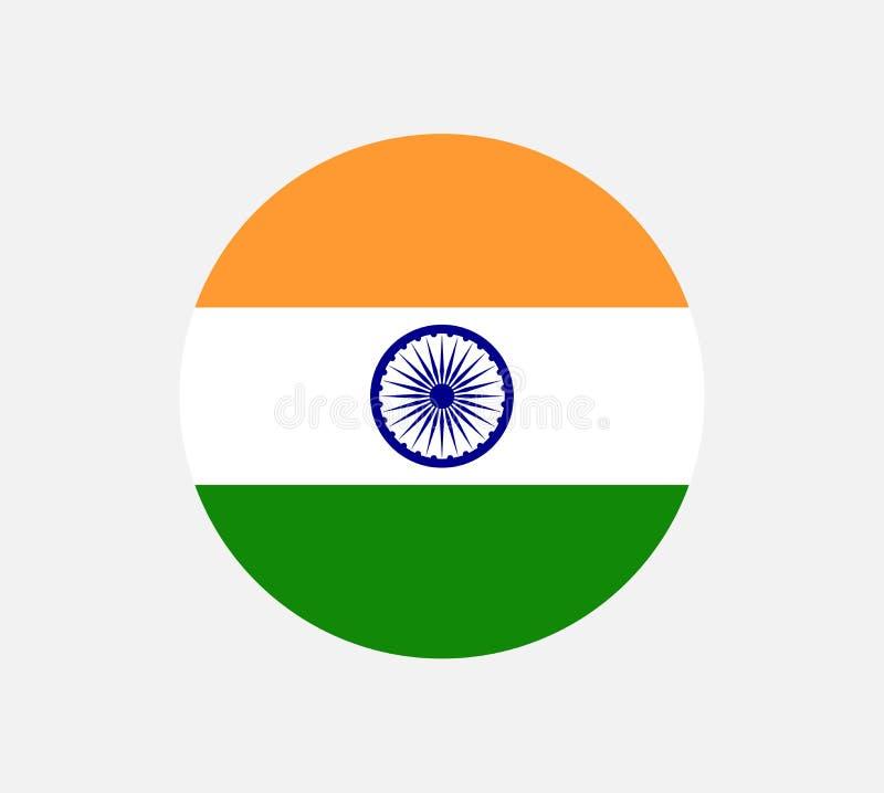 A ilustração da bandeira da Índia deu forma como um coração A bandeira da Índia, cores oficiais e proporciona corretamente Bandei ilustração do vetor