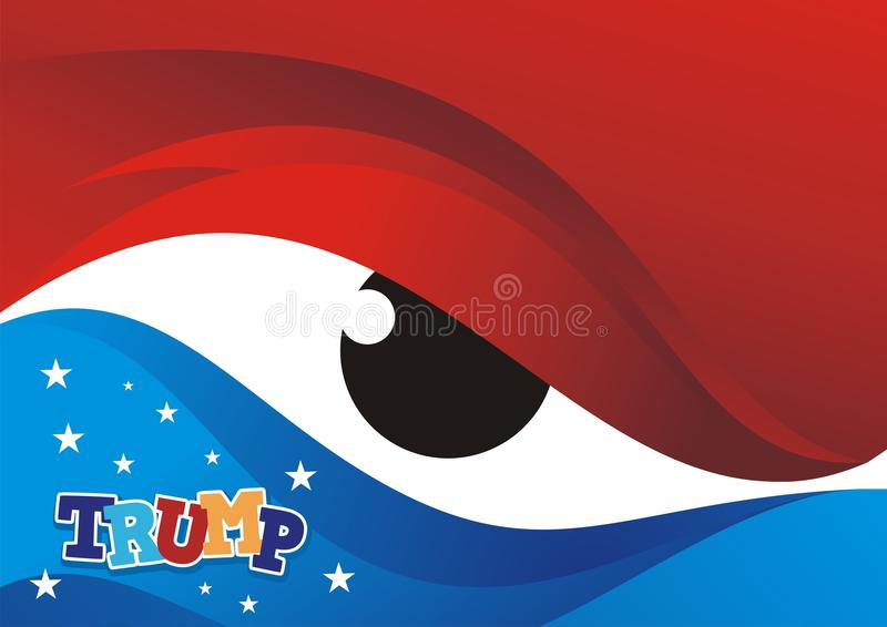Ilustração da bandeira americana com fundo do olho ilustração stock