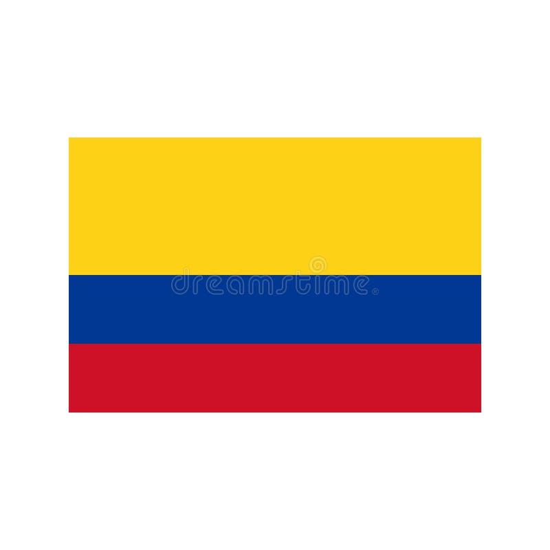 Ilustração da bandeira de Colômbia ilustração stock