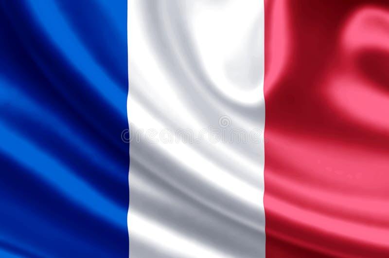 Ilustração da bandeira de França ilustração do vetor