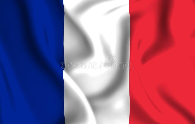 Ilustração da bandeira de França ilustração royalty free