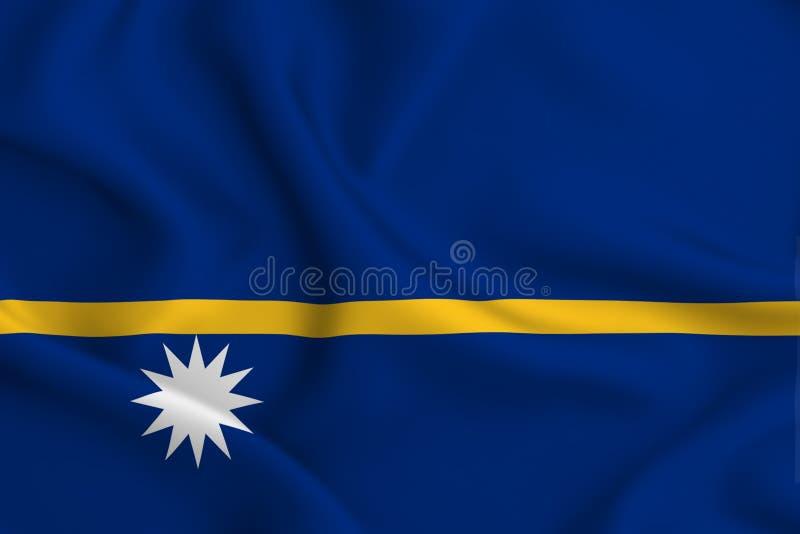 Ilustração da bandeira de Nauru ilustração royalty free