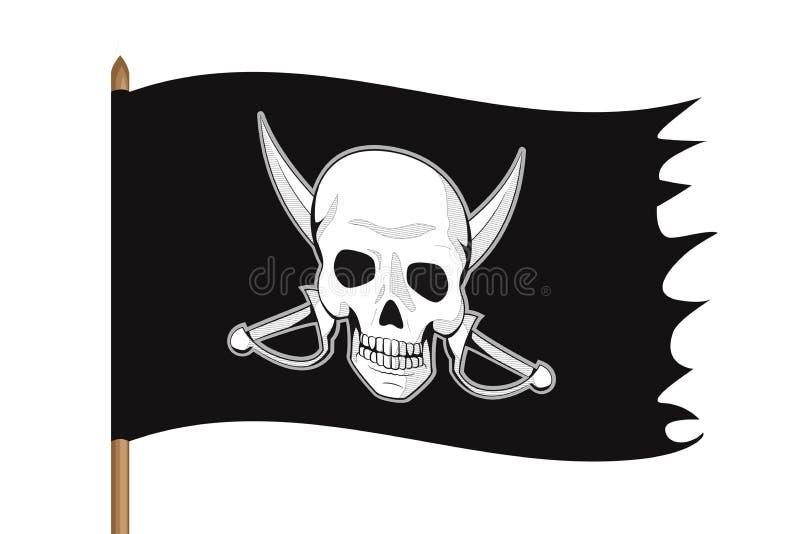 Ilustração da bandeira de pirata ilustração stock