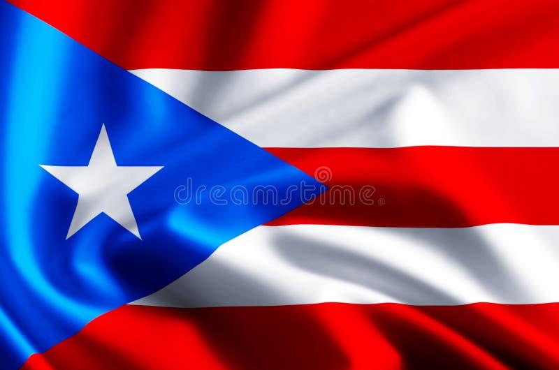 Ilustração da bandeira de Puerto Rico ilustração royalty free