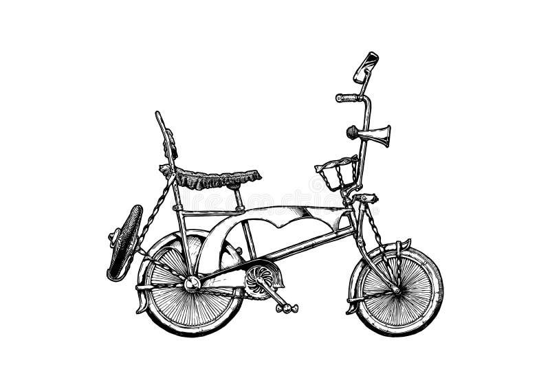 Ilustração da bicicleta do lowrider ilustração royalty free