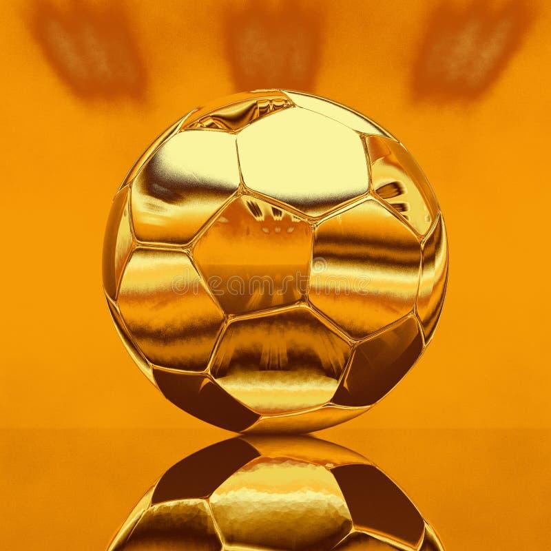Ilustração da bola de futebol do ouro fotos de stock