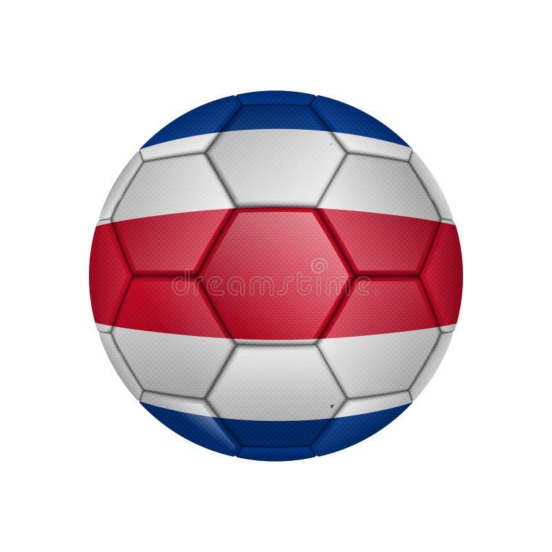 ilustração da bola de futebol realística pintada na bandeira nacional da costela-Rico para apps móveis do conceito e da Web Ilust ilustração royalty free