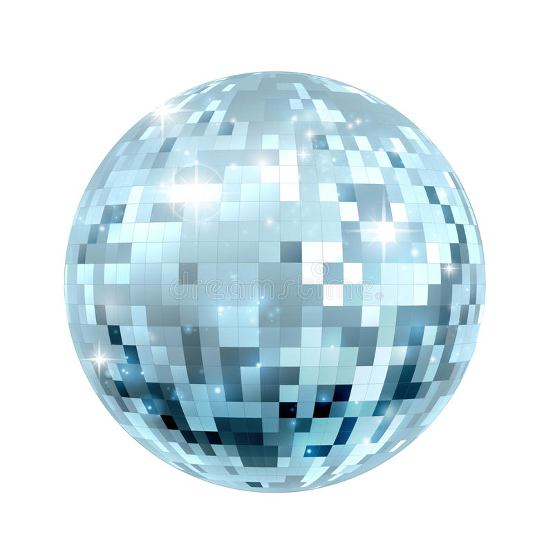 Ilustração da bola do disco ilustração royalty free