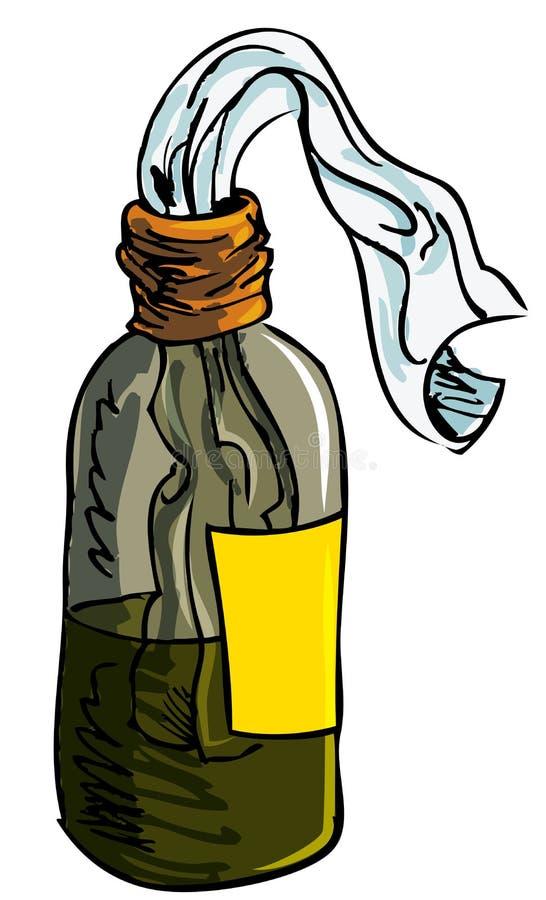 Ilustração da bomba do coquetel molotov ilustração stock