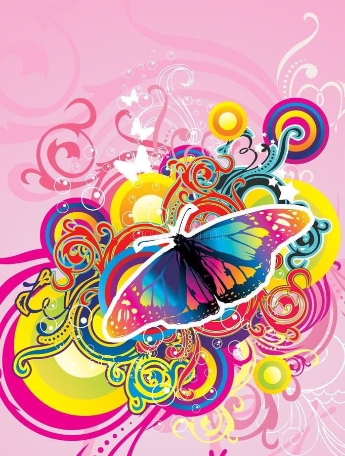 Ilustração da borboleta ilustração do vetor