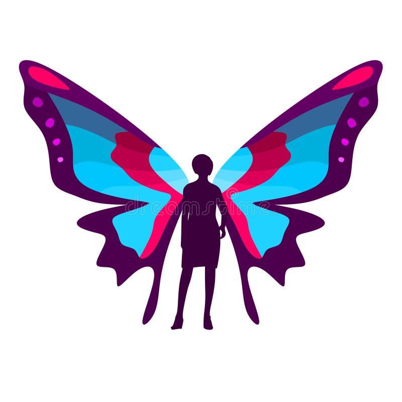 Ilustração da borboleta da mulher ilustração do vetor