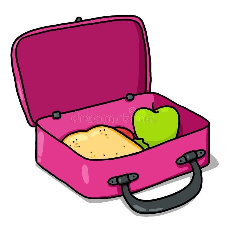 Ilustração da caixa de almoço dos miúdos ilustração royalty free