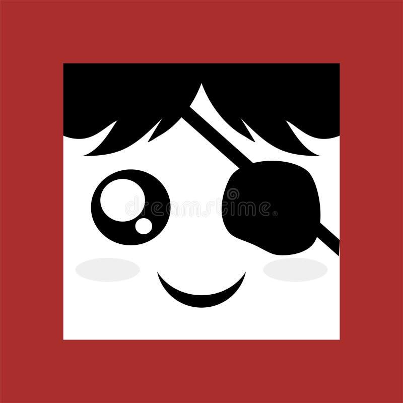Ilustração da cara do pirata ilustração do vetor