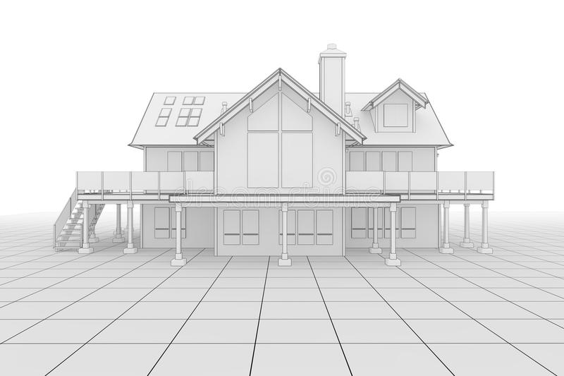 Ilustração da casa ilustração royalty free