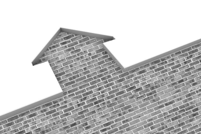 ilustração da casa 3d ilustração stock