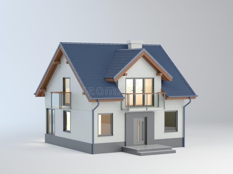 Ilustração da casa, ilustração 3D ilustração stock