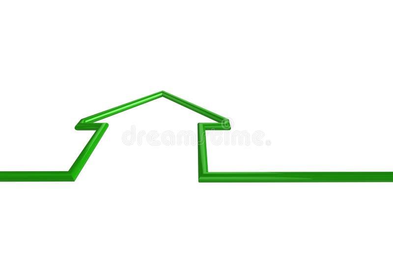 Ilustração da casa verde ilustração do vetor